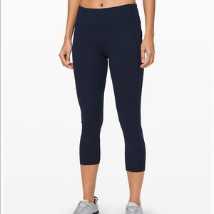 "Lululemon Pace Rival Crop 22"" NWT"